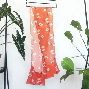 Orange Breezy scarf