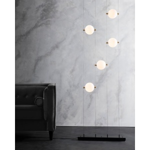 Abacus Floor to Ceiling LED Lamp by Hubbardton Forge