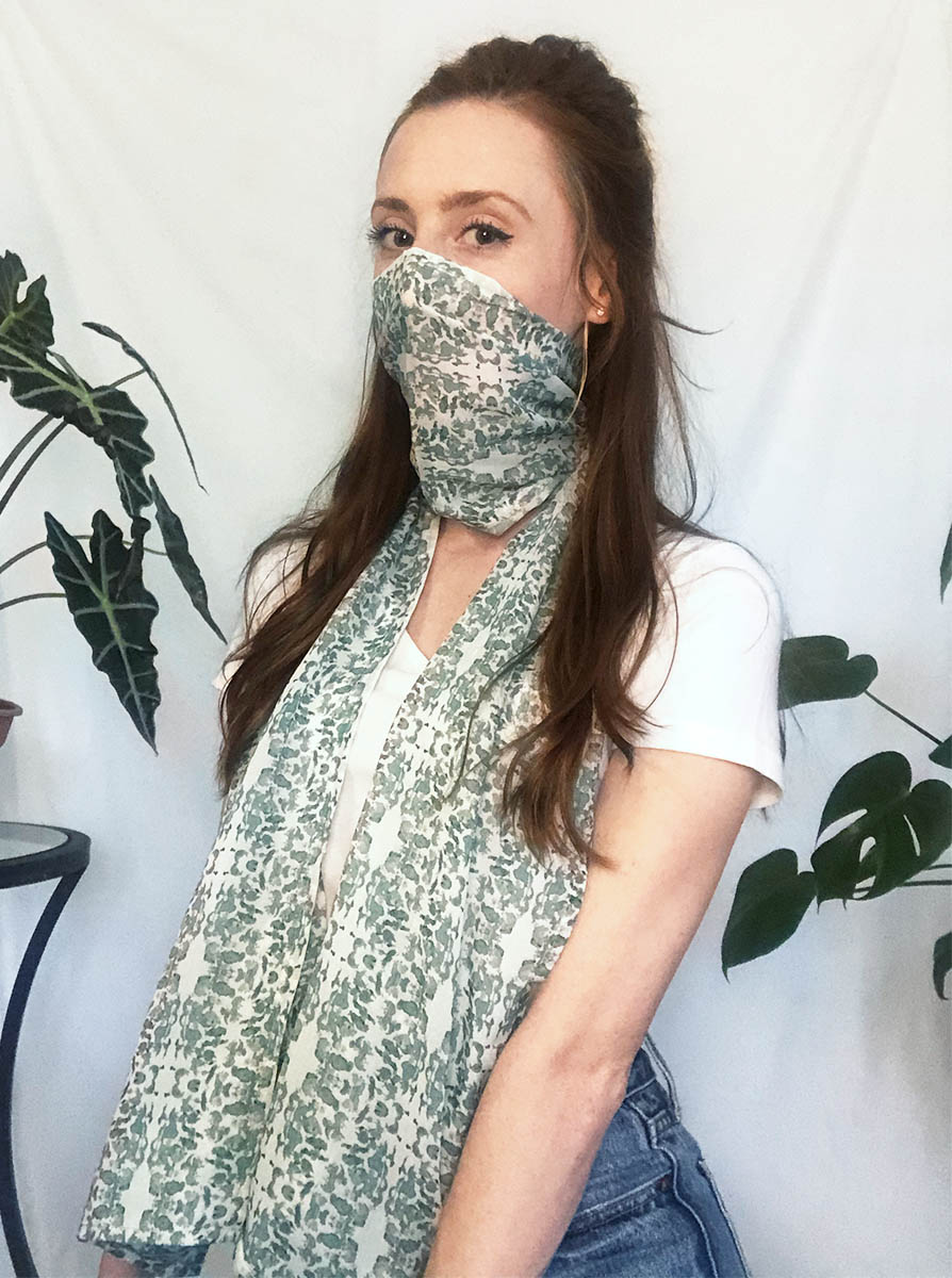 neutral scarf face covering